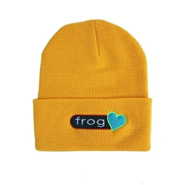 Frog Perfect Heart Beanie (Yellow)