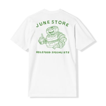 June - Hole Food Specialist Mens Tee - White, Green