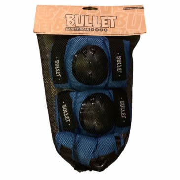 Bullet Blue/Black Junior Padset (One Size Fits All)