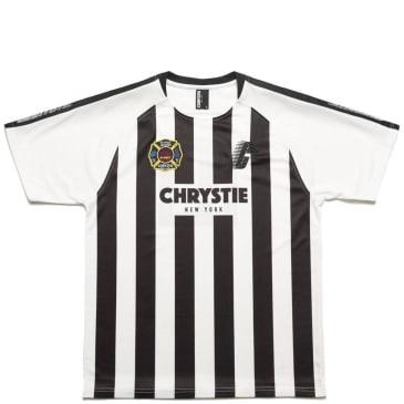 Chrystie NYC Stripe Soccer Jersey T-Shirt - White / Black