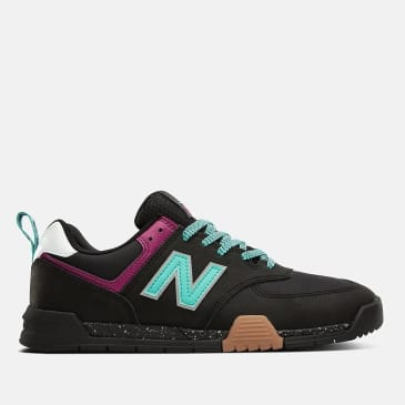New Balance All Coasts AM574 Shoes - Black / Mint
