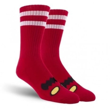TOY MACHINE MONSTER FACE SOCK RED