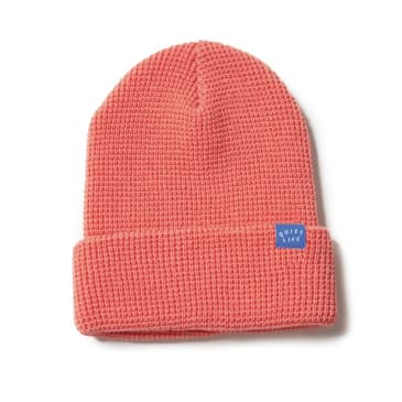 Quiet Life Waffle Beanie Coral