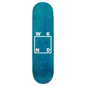 WKND Logo White Assorted Colors Skateboard Deck - 8""