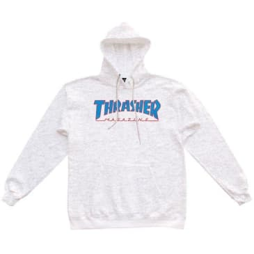 Thrasher Outlined Hood Ash Gray