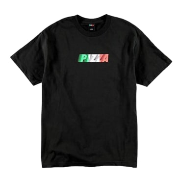 PIZZA SPEEDY TEE BLACK