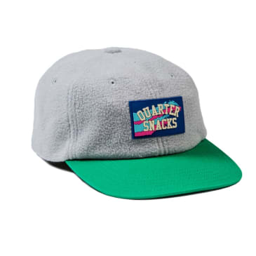 Quartersnacks Fleece Cap - Grey / Green