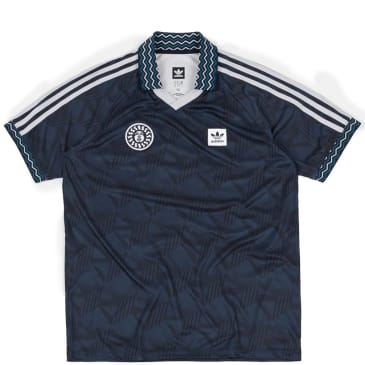 adidas Bootleague Jersey T-Shirt - Black / Collegiate Navy / White