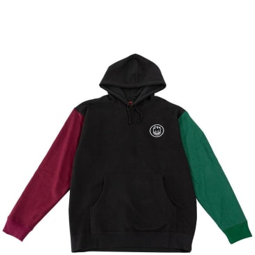 Spitfire Wheels Bighead Blocked Hoodie - Black / Maroon / Dark Green