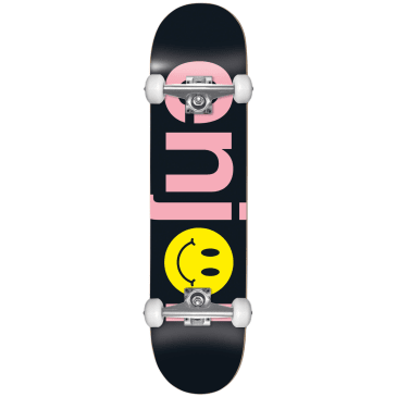 "Enjoi - 8.125"" No Brainer Smiley Complete Skateboard (Black / Pink)"