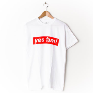 Yes Fam! Logo White/Red