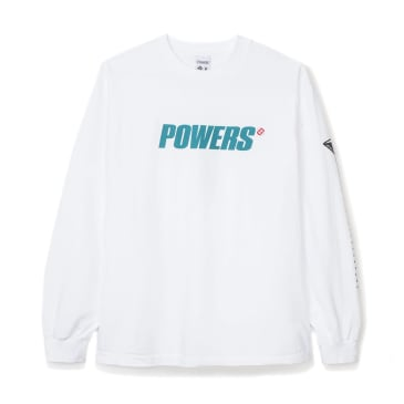 Powers Logo Long Sleeve T-Shirt - White
