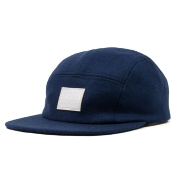 Post Details - Five Panel Wool Cap - Navy