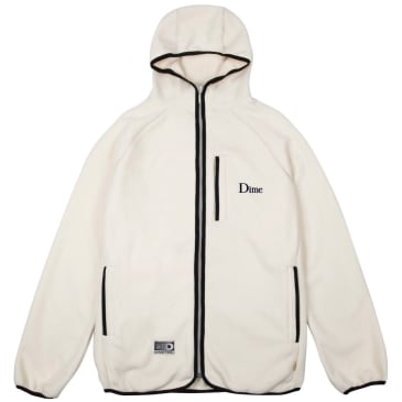 Dime Polar Fleece Hooded Jacket - Cream