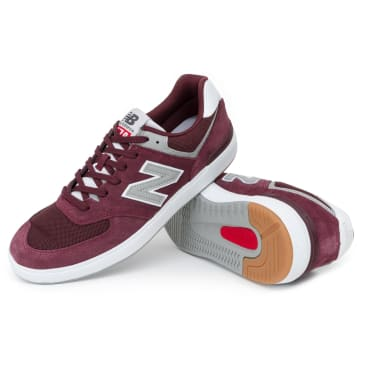 New Balance AM574 Shoes - Burgundy/White