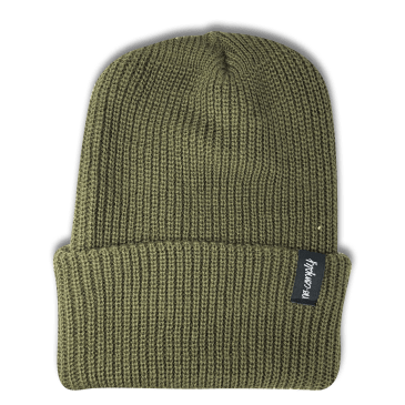 No-Comply Script Beanie Olive