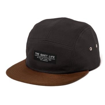 The Quiet Life - Cord Combo 5 Panel Camper Hat - Black
