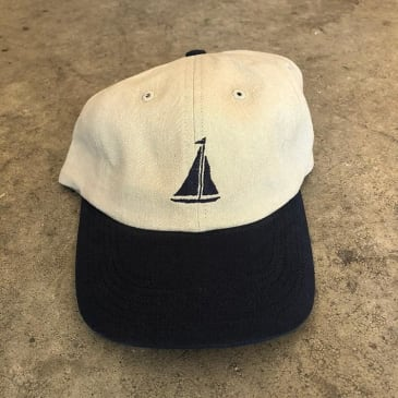 THE QUIET LIFE SAIL POLO HAT - STONE NAVY