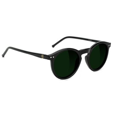 Glassy - TimTim Polarized Sunglasses - Black/Green