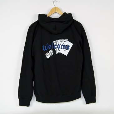Welcome Skate Store - Royal Pullover Hooded Sweatshirt - Black