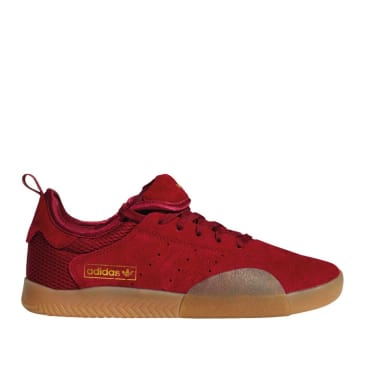 adidas Skateboarding 3ST.003 Shoes - Collegiate Burgundy / Gum 4 / Gold Met