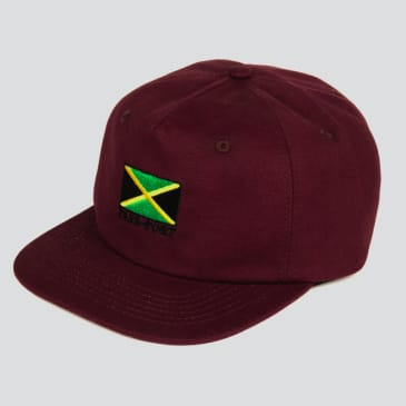 Passport Skateboards - Jamaica 5-Panel Cap (Maroon)