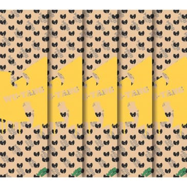 Wu-Tang Clan Stencil Pattern CLEAR Grip Tape 9in x 33""