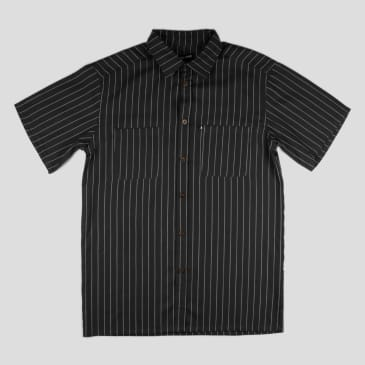 "PASS~PORT ""WORKERS STRIPE"" SHIRT S/S BLACK"