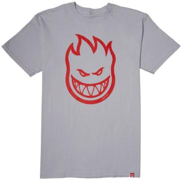 Spitfire Bighead T-Shirt (Silver/Red)