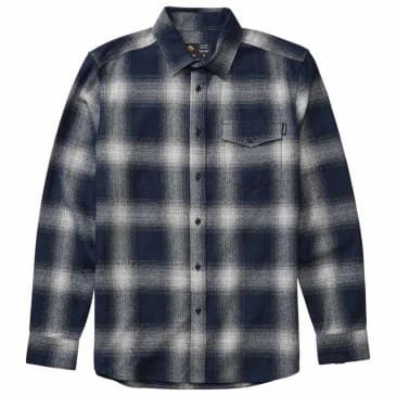 EMERICA STANLEY L/S WOVEN FLANNEL - NAVY