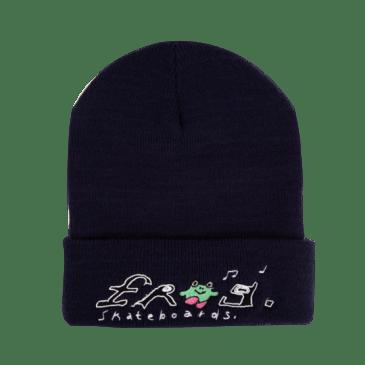 Frog Skateboards Happy Frog Beanie - Navy