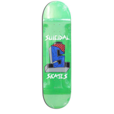 Dogtown Skateboards Suicidal Skates Logo Deck 8.5 - Green Lime Flake