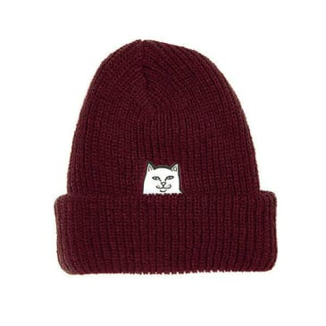 Rip N Dip Lord Nermal Ribbed Beanie - Burgundy