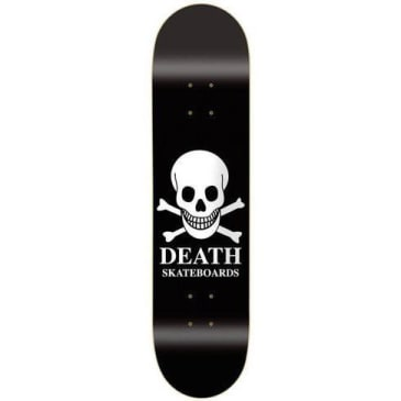 Death Skateboards OG Skull Skateboard Deck - Black/White
