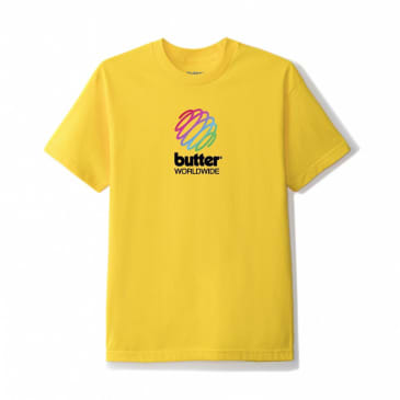 Butter Goods Telecom T-Shirt - Yellow