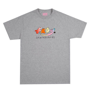 Frog Skateboards Original Dino Logo T-Shirt - Athletic Grey