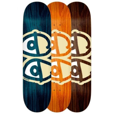 Krooked Team Eyes Deck White Assorted Woodstains & Sizes
