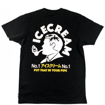 BBC Ice Cream Put That In Your Pipe T-Shirt - Black