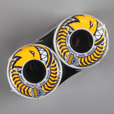 Spitfire '80HD Chargers' Conical 54mm Wheels (White / Yellow)