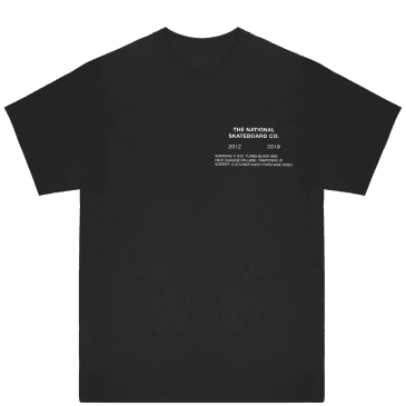 The National Skateboard Co Tapes T-Shirt - Black