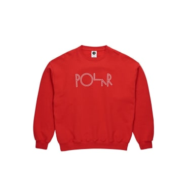 Polar Skate Co Script Crewneck - Red