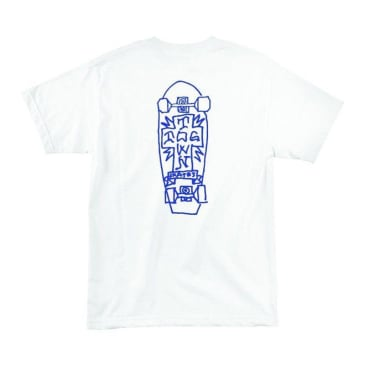 Dogtown Mark Gonzales Art T-Shirt - White/Blue