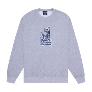 Hockey Liquid Metal Crewneck - Heather Grey