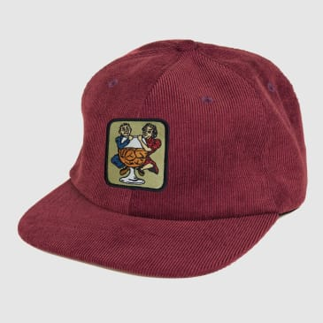 Pass Port Skateboards - With A Friend 5-Panel Cap - Burgundy