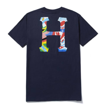 HUF Global Trip Classic H T-Shirt - French Navy
