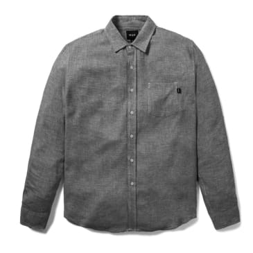 Huf - Course L/S Chambray Shirt - Black
