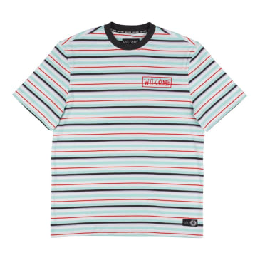 Welcome Surf Stripe T-Shirt - White-Red