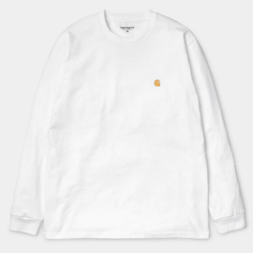 Carhartt WIP - L/S Chase T-shirt - White/Gold