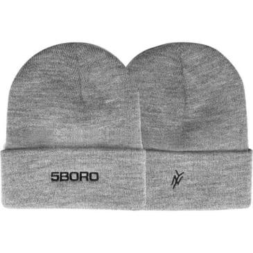 5Boro NY Logo Beanie - Grey