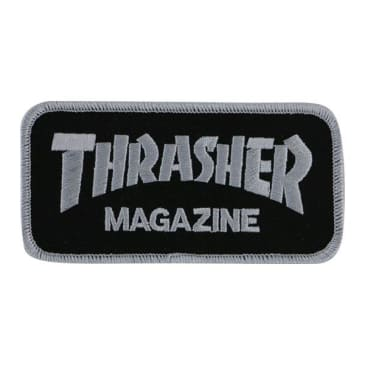 Thrasher Mag Logo Patch Black - Silver